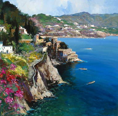 "European Artists:<BR>Antonio Iannicelli - ""Costiera Amalfi (Amalfi Coast)"""