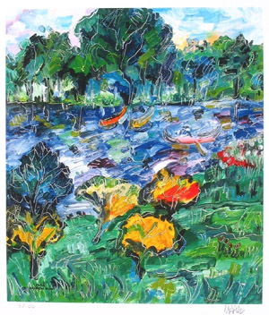 "European Artists:<BR>Miron Hunt - ""Spring on River  #6/100"""